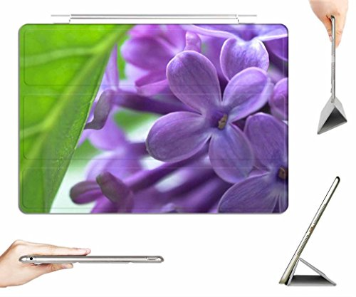 iPad Air Case + Transparent Back Cover - Shrub lilac - [Auto Wake/Sleep Function] [Ultra Slim] [Light Weight]