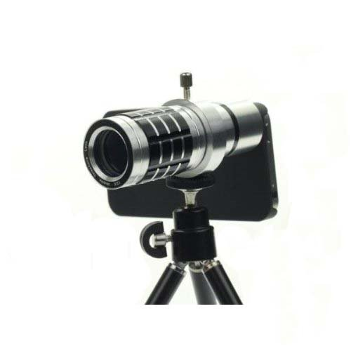 Glodeals 12X Metal Aluminum Mobile Camera Telephoto Lens With Tripod