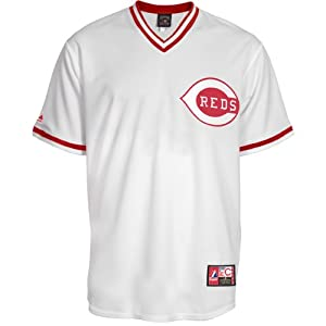 Majestic Athletic Cincinnati Reds Johnny Bench Replica Cooperstown Home Jersey by Majestic Athletic