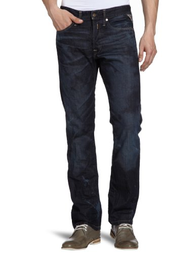 Replay Men's Waitom M983 .000.118 901 Straight Leg Jeans Blue (12.5 Oz Flat Finish Denim) 34/32
