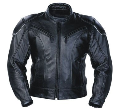 Australian Bikers Gear The Razor Classic Leather CE Armoured Motorcycle Jacket (40