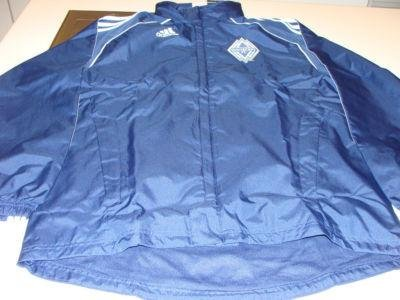MLS Soccer Vancouver Whitecaps 2011 Rain Jacket Full Zip With Hood L Adidas - Men's NHL Jackets