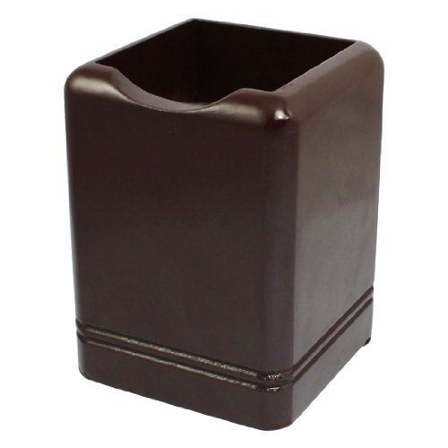 uxcell� Square Shaped Maroon Brown Wood Wooden Pencil Pen Holder Stationery