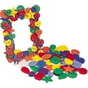 Purchase ROYLCO R2131 Bright Buttons, Assorted Sizes, Shapes and Color, 1/2-Pound