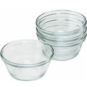 Anchor Hocking Clear Glass Oval Custard Cups Ramekins, Set of 4 by Anchor Hocking