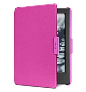 """Kindle Essentials Bundle including All- Kindle 6"""" E-Reader, Black with Special Offers, Amazon Cover for Kindle - Magenta, and Power Adapter from Amazon"""
