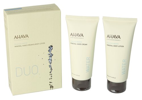 Ahava Duo Mineral Hand Cream 100ml & Mineral Body Lotion 100ml