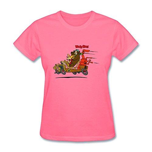 SLJD Women's Wacky Races Cartoon Design Short Sleeve