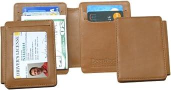 KT-136-T DeepPocket Money Clip Leather Wallet with SeeID (Deluxe) Model