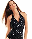 Push Up Top, one pieces (oct-flav-1011N-f3254)Black-White,size 14(L)