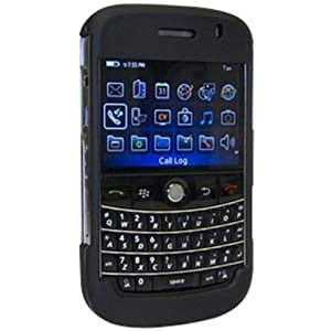 Amzer Rubberized Black Snap On Crystal Hard Case for BlackBerry Bold 9000