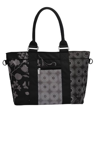 Lassig Diaper Bag Casual City Shopper Bag, Black (Discontinued by Manufacturer)