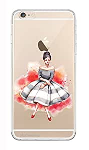 MiiCreations Printed Transparent Crystal Clear Silicon/Soft back cover for Apple Iphone 6,Fairy Girl