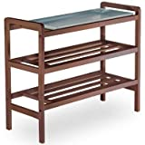 Winsome Wood Shoe Rack, Antique Walnut [Kitchen] MPN: 94633