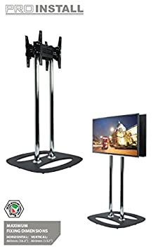 "B-Tech BT8552-200 50"" Fixed flat panel floor stand Black - flat panel floor stands (Black, Fixed flat panel floor stand, 127 cm (50""), 35 kg, 400 x 400 mm, 400 x 400 mm)"