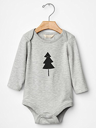 Gap Baby Organic Christmas Tree Bodysuit Size 3-6 M