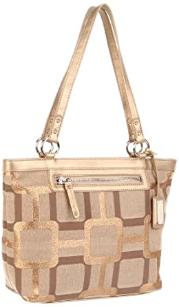 Nine West  Vegas Signs Satchel,Khaki Gold  Metallic,One Size