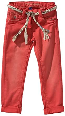 Mexx - Jean - Coupe Droite - Fille - Rouge (615) - FR : 5 ans (Taille fabricant : 110)