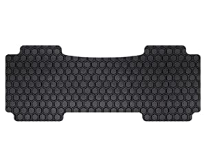 1998-2003 TOYOTA Sienna (MiniVan) 2nd Seat captain - console in front row Black Hexomat 1 Piece OverALL Rear Mat Set