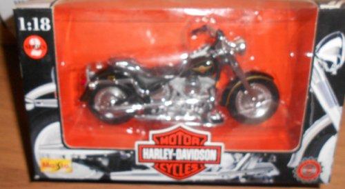 Maisto Harley Davidson Motorcycles (Series 2 1998) 1:18 Scale Flstr Fat Boy Black & Gold
