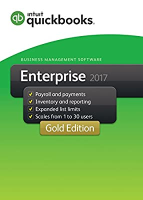 QuickBooks Desktop Enterprise 2017 Gold Edition Business Accounting Software 1-User [PC Download]