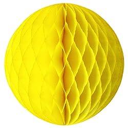 PrettyurParty Yellow Honeycomb Balls - 20cm