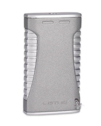 Lotus L40 Torch Flame Lighter Satin Silver