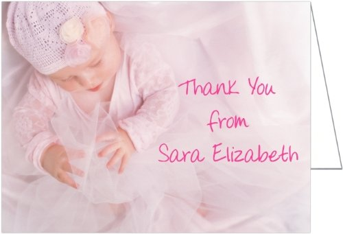 Pinky Baby Thank You Cards - Set of 20