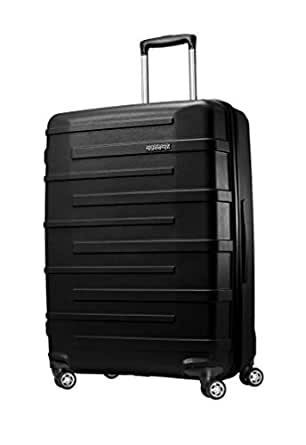 American Tourister Polypropylene Hardside Spinner 28, Black,