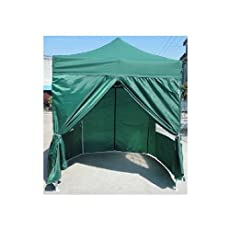 NEW WATERPROOF 2.5M X 2.5M POP UP TENT GAZEBO MARQUEE PARTY TENT CANOPY+4 SIDES (GREEN)