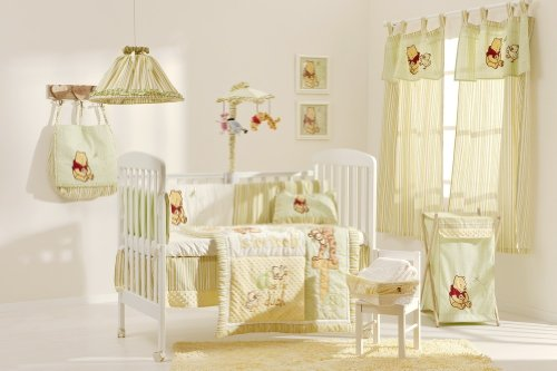 [Pooh Bear In The Field] 4 Pc Crib Bedding Set Crib Bedding Collection