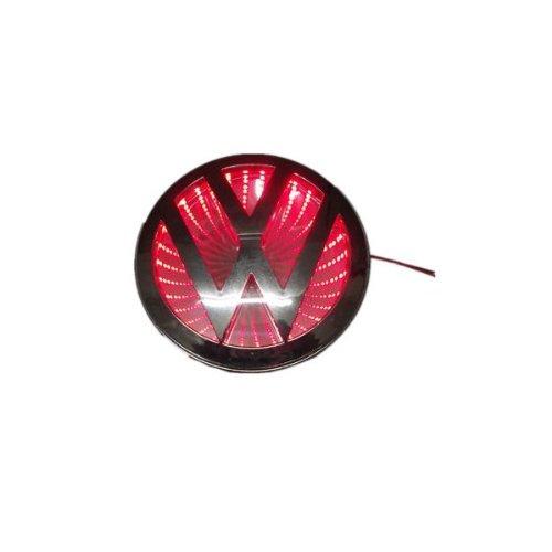 Car 3D Reflective Led Logo Emblem Badge Sticker Lights For Vw Volkswagen Jetta Red New