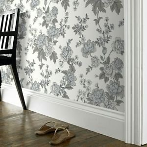 SuperFresco Easy Kensington Wallpaper - White by New A-Brend