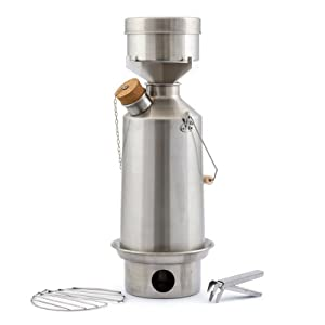 Kelly Kettle USA - Volcano Kettle - Ultra Fast Boiling Kettle. Large Aluminum Base... by Kelty Kettle