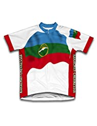 Karachay-Cherkessia Flag Short Sleeve Cycling Jersey for Women