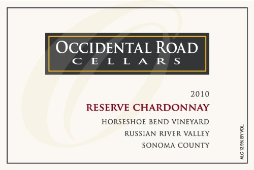 2010 Occidental Road Cellars Reserve Chardonnay Russian River Valley Horseshoe Bend Vineyard 750 Ml