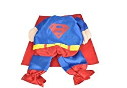 Demarkt Fashion Superman Dog Cat Puppy Fleece Costume Clothes Pet Apparel Superdog Dress Up Pet Supplies Cape (XL)