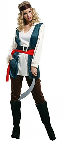 Treasure-box Cool Womens Pirate Halloween Costume Adult