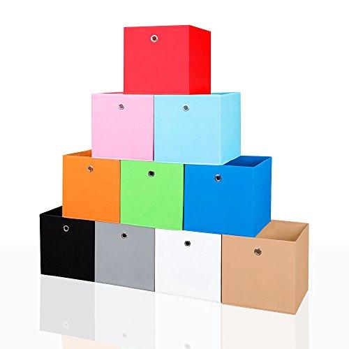 Faltbox-Faltkiste-Regalkorb-Aufbewahrungsbox-Spielkiste-Staubox-Korb-34-x-34-cm-Farbepink-3232