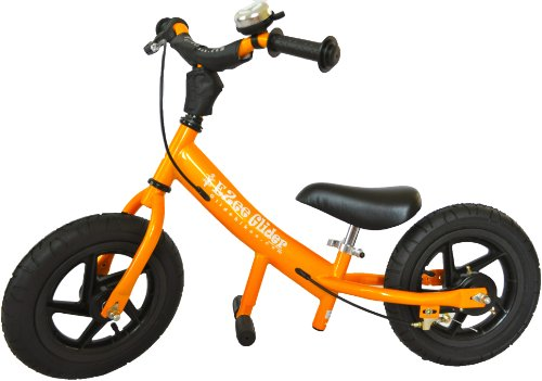 Glide Bikes EZee Glider Kid's Balance Bike (Orange, 12-Inch)