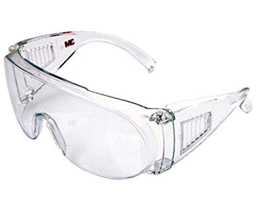 3b072e9e37 Buy 3m 1611 clear lens eye protection glasses Visitor Specs bike riding  goggles on Amazon