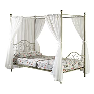 We furniture metal full canopy bed with - Canopy bedroom sets with curtains ...