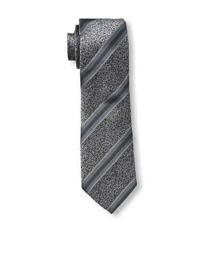 Armani Collezioni Men's Mottled Stripe Tie, Grey