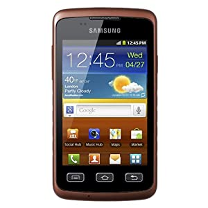 Samsung GT-S5690L Galaxy Xcover Unlocked Quad-Band 3G GSM Phone with Android OS, 3.15MP Camera, Wi-Fi and GPS - US Warranty - Black/Orange