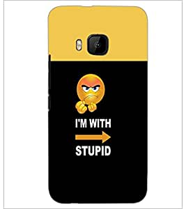 PrintDhaba Funny Quote D-3492 Back Case Cover for HTC ONE M9S (Multi-Coloured)