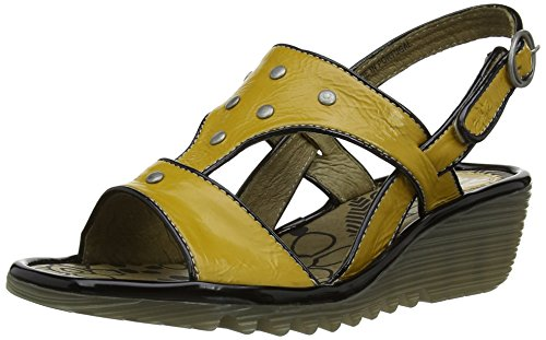 Fly London Odum - Sandali da donna, colore giallo (yellow (mustard)), taglia 39