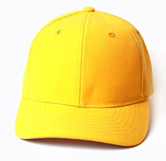 plain yellow adjustable hat at men s clothing store