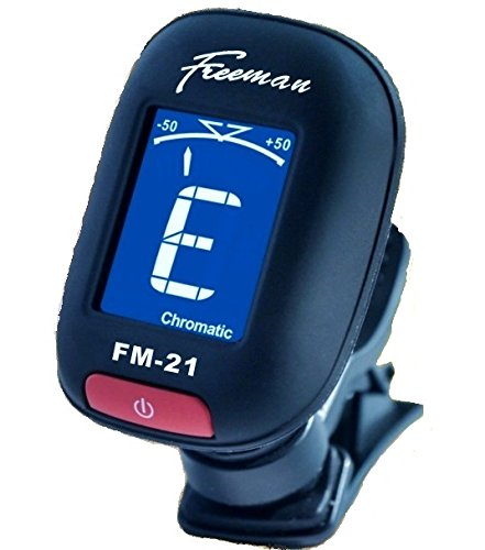 The FM-21 Clip on Style Chromatic Tuner (Matt Black) Guitars,Mandolins,Bass,Fiddle,Ukelele,Violin,Acoustic or Electric Six String Guitar Axe. This Compact Digital Mini Tuner Is Guaranteed to Help Keep You in Tune.