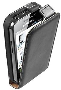 Mumbi Premium - Funda de cuero con tapa para Samsung Galaxy Ace S5830 S5830i
