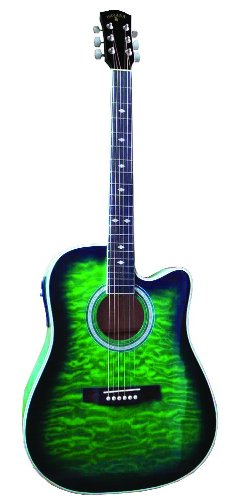 Indiana Scout Elite Idc-Grq Acoustic-Electric Guitar - Green Sunburst